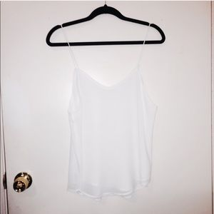 NWOT Large White Sheer Two Layer Formal Tank